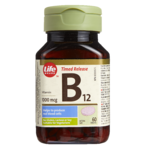 Life Brand B12 Timed Release 1000mcg Tablets