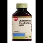 Glucosamine, Chondroïtine et MSM Life Brand - Comprimés de 1 300 mg