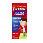 Tylenol Children's Cold&Cough Nighttime Suspension Liquid Soothing Apple 100mL
