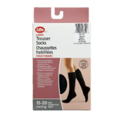 Life Brand Ladies Trouser Socks Medium Black