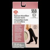 Life Brand Ladies Microfiber Trouser Socks 15-20 Mmhg Light Compression M Beige 1 Pair