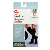 Life Brand Men's Dress Socks 20-25 Mmhg Mild Compressionm Navy 1 Pair