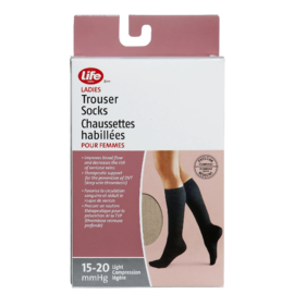 Life Brand Ladies Trouser Socks Medium Beige